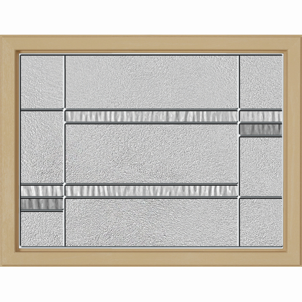 "ODL Destinations Door Glass - Crosswalk - 23.313"""" x 17.938"""" Craftsman Frame Kit"
