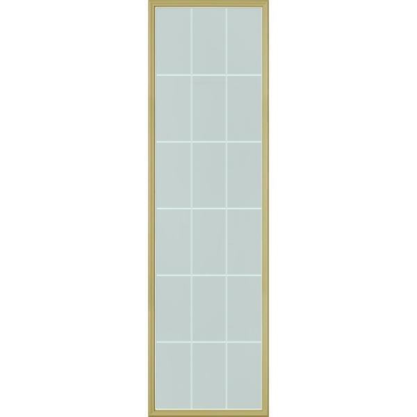 ODL Cut Crystal Door Glass - 18 Light Internal Grille - 24\