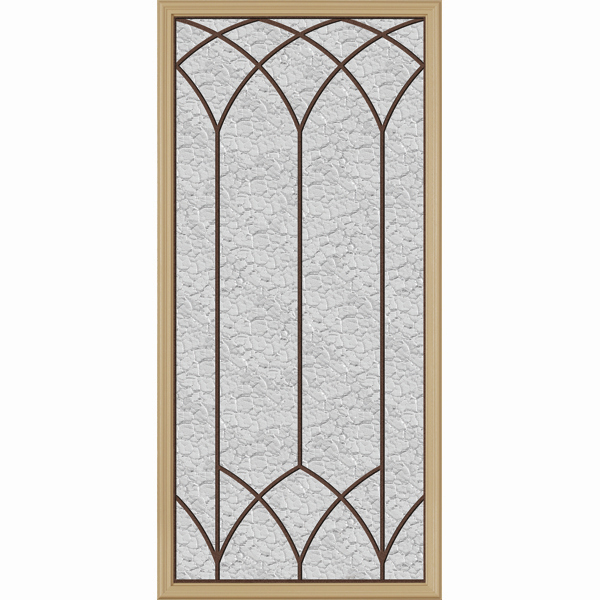 "Western Reflections Door Glass - Davidson - 24"" x 50"" Frame Kit"