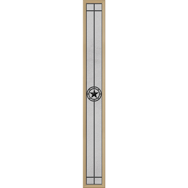 "ODL Elegant Star Door Glass - 10"" x 82"" Frame Kit"