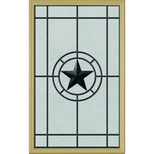 "ODL Elegant Star Door Glass - 24"" x 38"" Frame Kit"