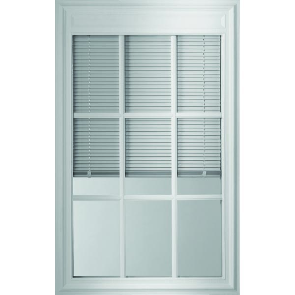 "ODL Enclosed Blinds - Low-E Glass - Triple Pane - 9 Light - Internal Grille - 24"" x 38"" Frame Kit"