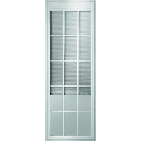 "ODL Enclosed Blinds - Low-E Glass - Triple Pane - 15 Light - Internal Grille - 24"" x 66"" Frame Kit"