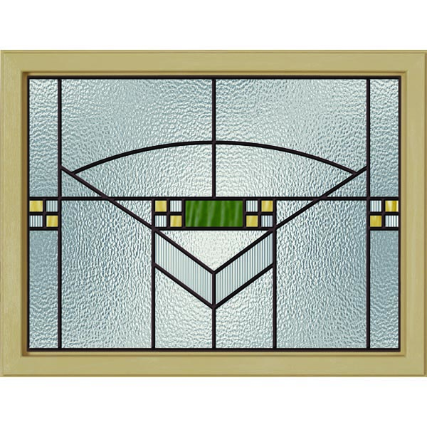 "ODL Greenfield Door Glass - 23.313"" x 17.938"" Craftsman Frame Kit"