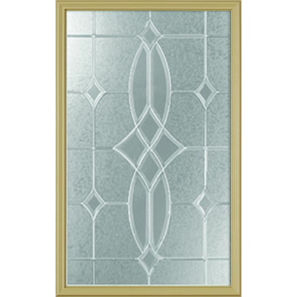 "Western Reflections Imperial Platinum Door Glass - 24"" x 38"" Frame Kit"