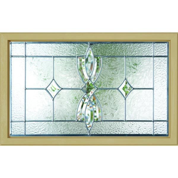 "Western Reflections Laurel Door Glass - 27"" x 17.25"" Craftsman Frame Kit"