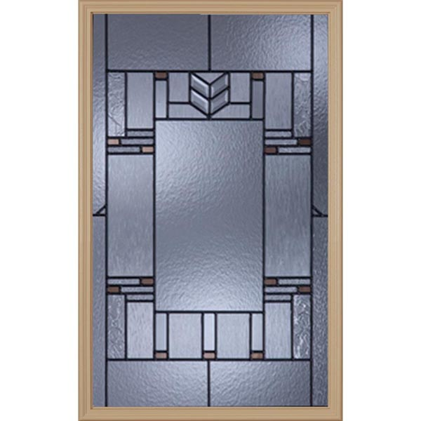 "Western Reflections Leighton Door Glass - 24"" x 38"" Craftsman Frame Kit"