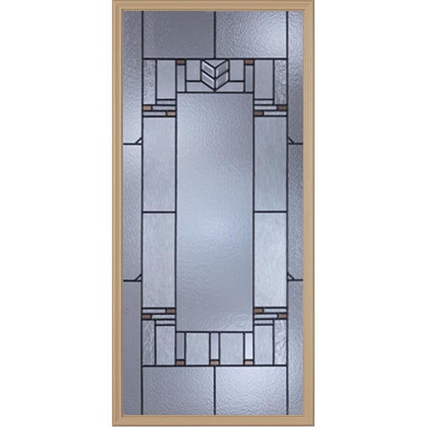 "Western Reflections Leighton Door Glass - 24"" x 50"" Craftsman Frame Kit"