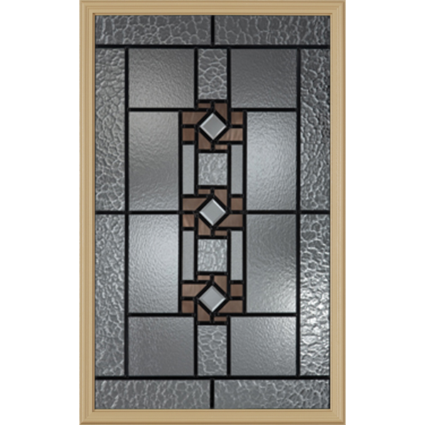 "Western Reflections Mission Ridge Door Glass - 24"" x 38"" Frame Kit"