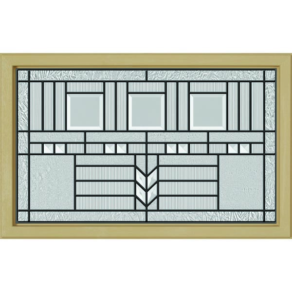 "ODL Oak Park Door Glass - 27"" x 17.25"" Craftsman Frame Kit"