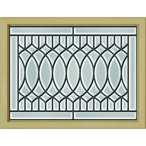 "ODL Paris Door Glass - 23.313"" x 17.938"" Craftsman Frame Kit"