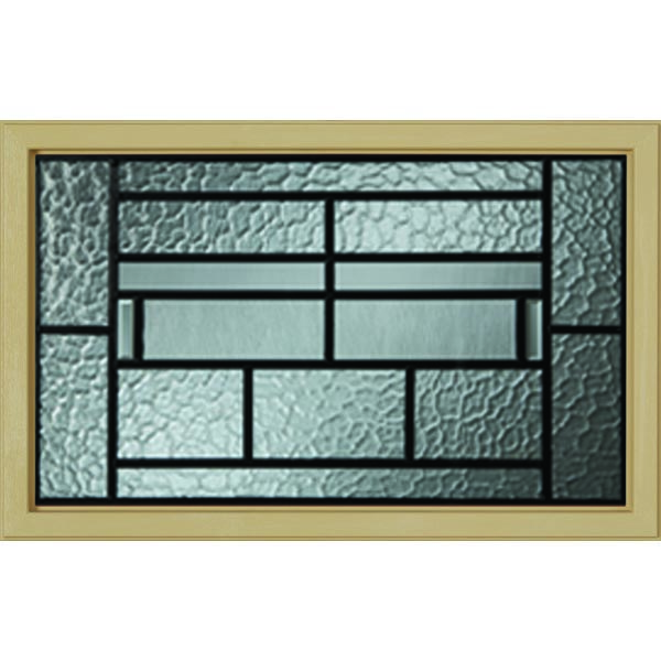 "Western Reflections Pembrook Door Glass - 24"" x 17.25"" Craftsman Craftsman Frame Kit"