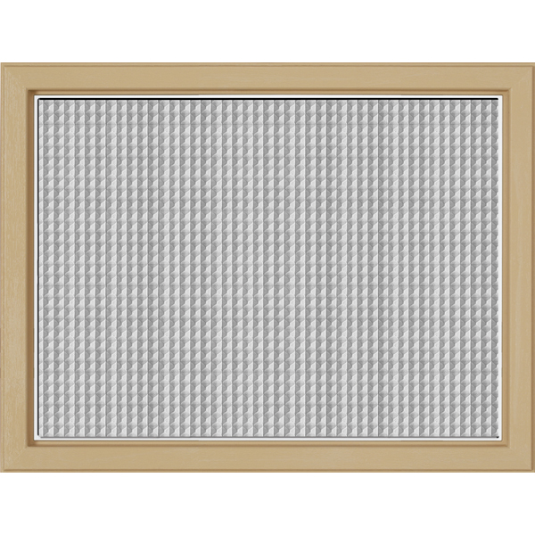 "Image for ODL Perspectives Low-E Door Glass - Textured Geo-Tex - 23.313"" x 17.938"" Craftsman Frame Kit from Zabitat"