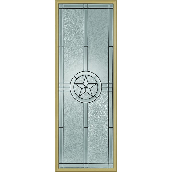 "Western Reflections Radiant Star Door Glass - 24"" x 66"" Frame Kit"