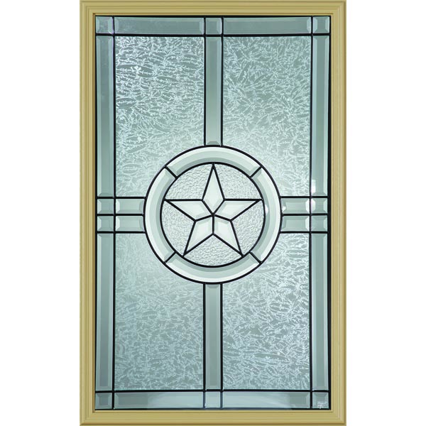 "Western Reflections Radiant Star Door Glass - 24"" x 38"" Frame Kit"