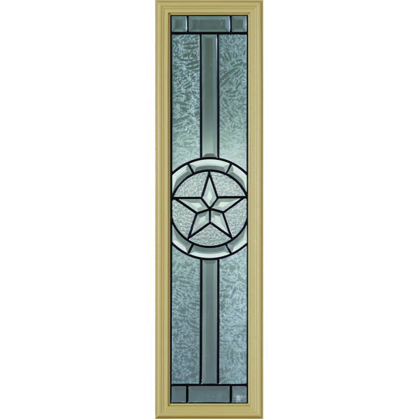 "Western Reflections Radiant Star Door Glass - 10"" x 38"" Frame Kit"