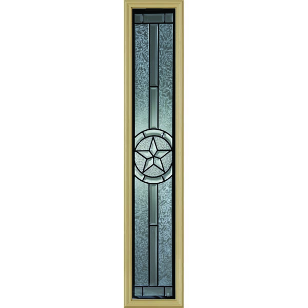 "Western Reflections Radiant Star Door Glass - 10"" x 50"" Frame Kit"