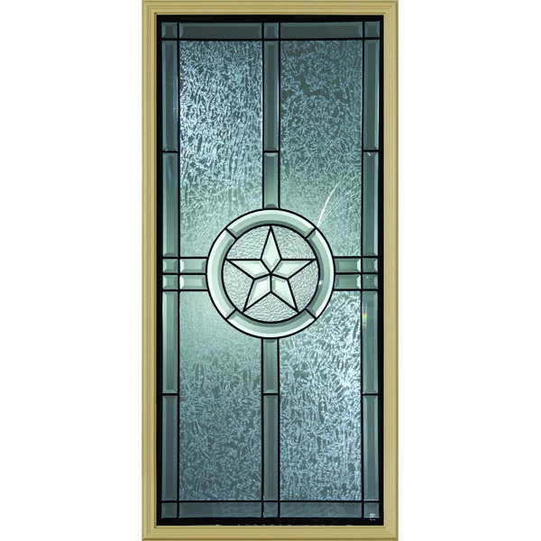 "Western Reflections Radiant Star Door Glass - 24"" x 50"" Frame Kit"