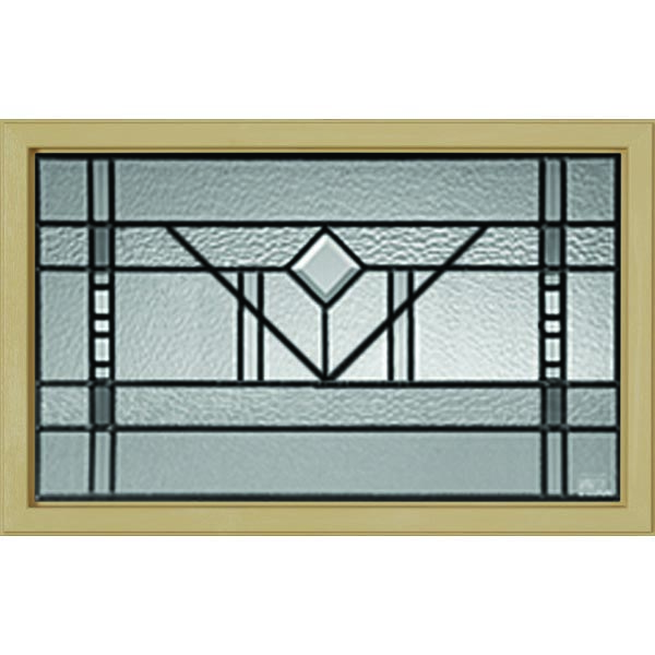 "Western Reflections Riverwood Door Glass - 23.313"" x 17.938"" Craftsman Frame Kit"