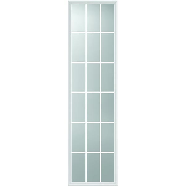 "ODL Impact Resistant 18 Light - 5/8 Internal Grille Low-E Door Glass - 22"" x 82"" Frame Kit"