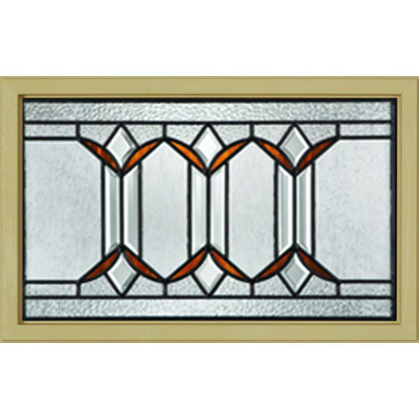 "Western Reflections Sylvan Park Door Glass - 23.313"" x 17.938"" Craftsman Frame Kit"