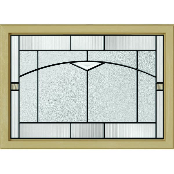 "ODL Topaz Door Glass - 24"" x 17.25"" Craftsman Frame Kit"