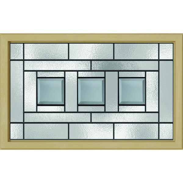 "Western Reflections Vintage Craftsman Door Glass - 23.313"" x 17.938"" Craftsman Frame Kit"