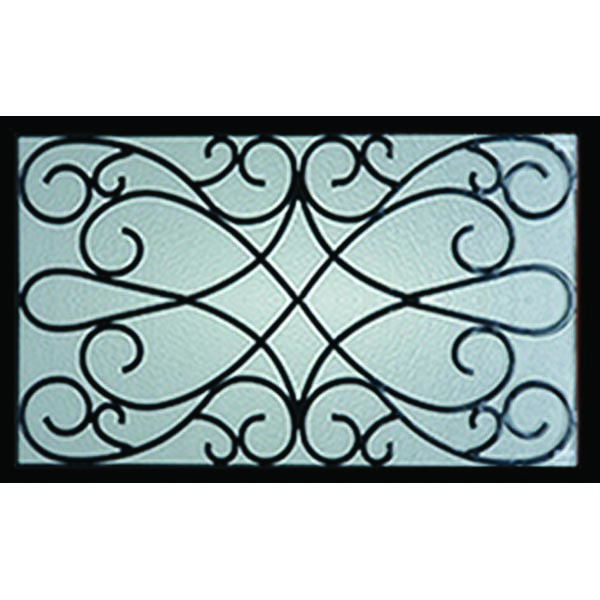 "Western Reflections Wyngate Door Glass - 23.313"" x 17.938"" Craftsman Frame Kit"