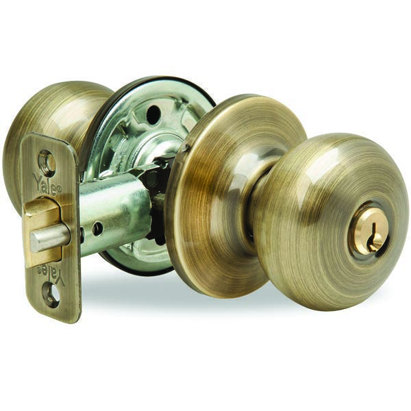 Yale New Traditions Horizon Entry Door Knob Antique