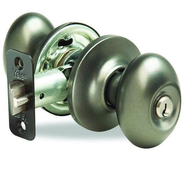 Yale-New-Traditions-Terra-Entry-Door-Knob-Gun-Metal