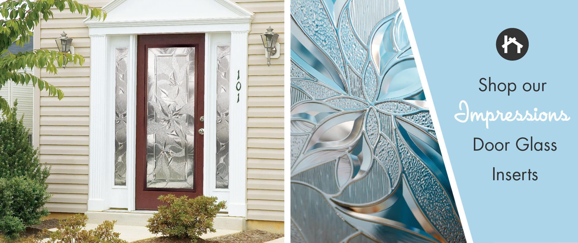 Silkscreen Floral Door Glass Inserts Odl Impressions Zabitat