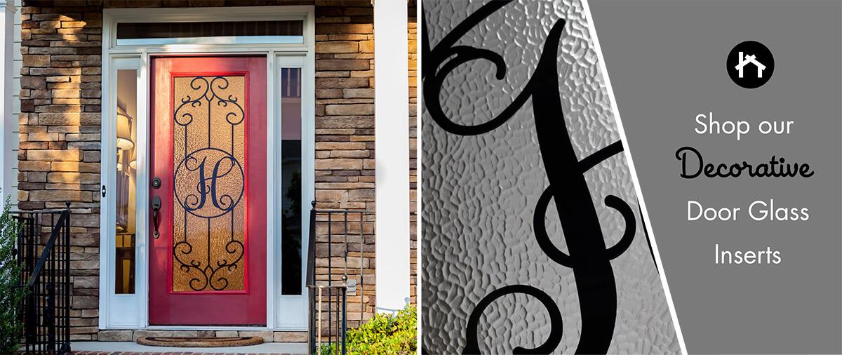 Custom Monogram Door Glass Inserts | Monogram Metalist | Zabitat