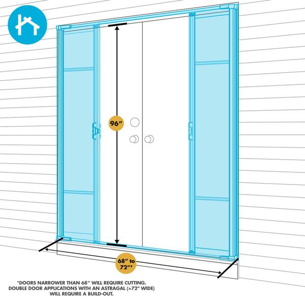 Odl brisa premium retractable screen kit for 96 in for Retractable screen door for outswing door