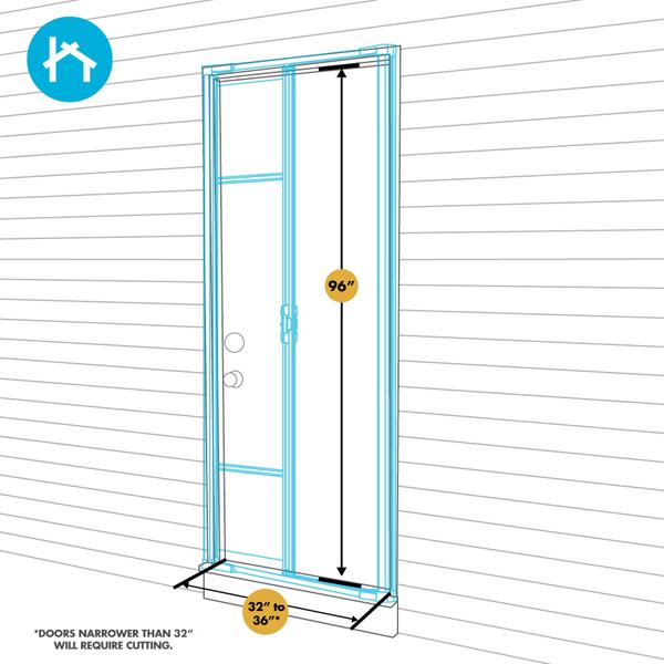 odl brisa premium retractable screen kit for 96 in On retractable screen for single inswing door