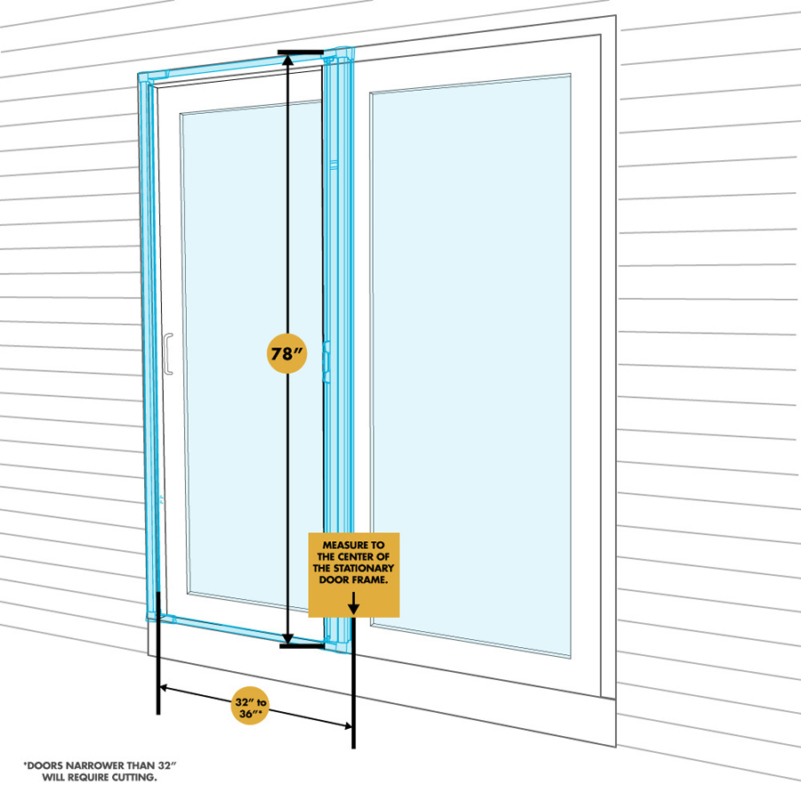 Odl brisa premium retractable screen for 78 in sliding for Screens for patio doors retractable