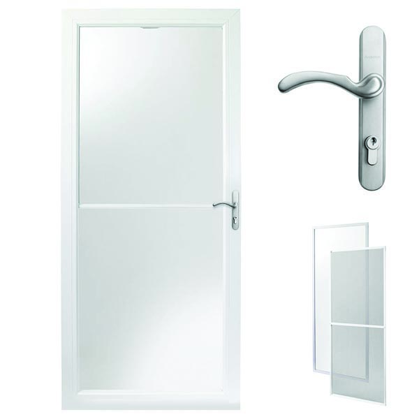 Andersen Storm Door 36 X 80 White Retractable Screen