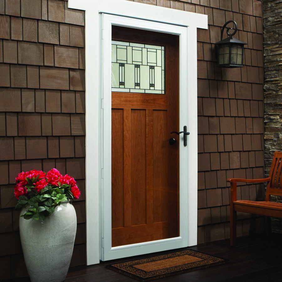 "Andersen Storm Door 36"" X 80"" Fixed Safety Glass"