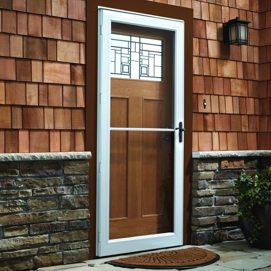 "Doors With Screen: Andersen Storm Door 32"" X 80"" Retractable Screen"