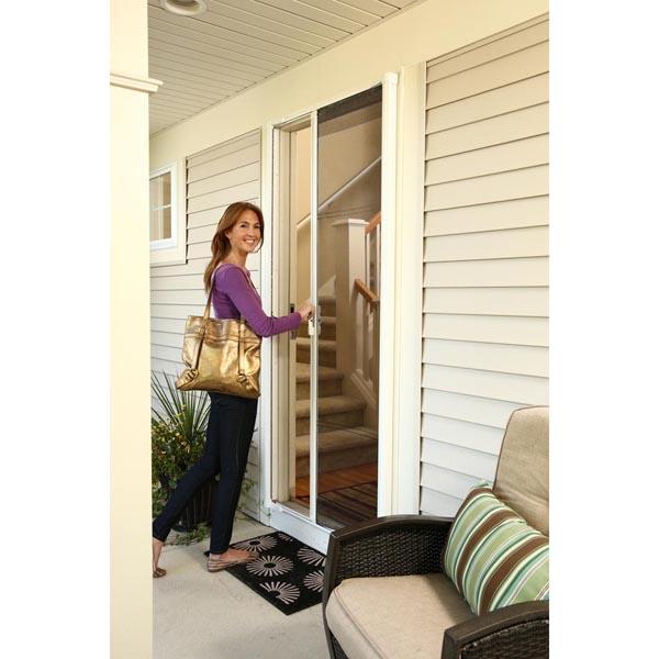 Odl brisa premium retractable screen kit for 78 in for Retractable screen door for outswing door