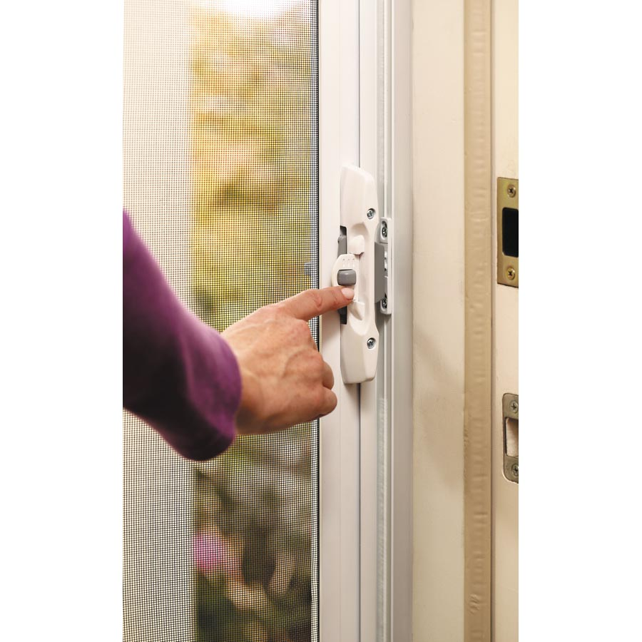 Odl brisa premium retractable screen kit for 96 in for Retractable screen door with lock